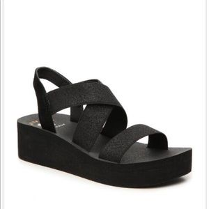 Yellow box Bunkie Wedge sandal